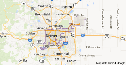 Denver Area Map